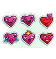 set heart icons vector image vector image