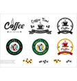 Set of retro coffee badge label logo design vector image vector image