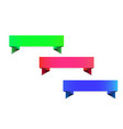 set three empty colors icons vector image vector image