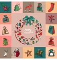 Set with traditional Christmas elements For vector image vector image