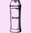 shampoo hair vector image