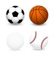 sports balls set football basketball baseball vector image