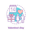 valentines day concept icon vector image vector image