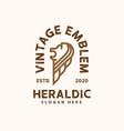 vintage heraldic lion logo template logo vector image vector image
