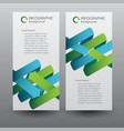 web infographic vertical banners vector image vector image