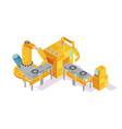 welding conveyor isometric vector image vector image