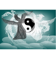 Yin and Yang fantasy with angels vector image vector image