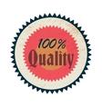 100 percent quality label vintage style