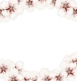 Abstract Border Made in Cherry Blossom vector image vector image