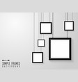 abstract of simple square black frames pattern on vector image