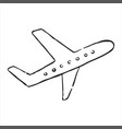 airplane doodle icon vector image