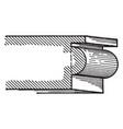 bead a roman moulding vintage engraving vector image vector image