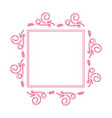 beautiful rectangle floral frame 04 vector image vector image