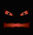 black halloween evil face with a toothy maw vector image vector image