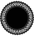 black napkin vector image vector image