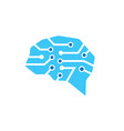 blue brain technology logo vector image