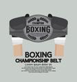 Boxing Championship Belt vector image vector image