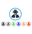 call center manager rounded icon vector image