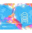 Creative battery Art template vector image