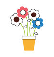 Cute flower in pot drawing decorative