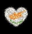 cyprus flag sparkling heart badge vector image vector image