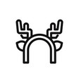 deer horns icon vector image vector image