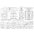 Doodle Floral borderframedecor elementHand vector image vector image