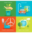 Ecology Flat Compositions vector image