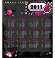 emo calendar 2011 vector image vector image
