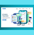 fitness tracker website landing page design vector image vector image