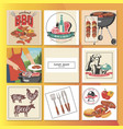 flat bbq party composition vector image vector image