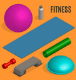 flat design elements for fitness vector image