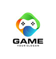 gaming controller logo design vector image