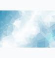 geometric blue light polygonal background vector image vector image