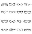 glasses icon set medical and optical protection vector image vector image