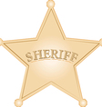 golden sheriff star over white background vector image