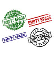 grunge textured empty space seal stamps vector image