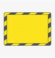 hazard frame vector image vector image