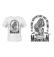 hiking sport club t-shirt print mountain eagle vector image