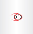 human eye icon symbol stylized sign vector image vector image