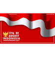 indonesia independence day wallpaper vector image