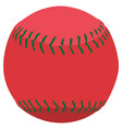 isolated baseball ball vector image