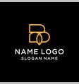 letter b leaf logo vector image vector image