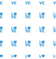 love word icon pattern seamless white background vector image vector image