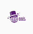 magic world logo vector image vector image