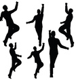 man silhouette in excited pose vector image vector image