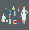 medical symbols emergency sign cross first sterile vector image vector image