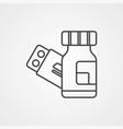 medicine icon sign symbol vector image vector image