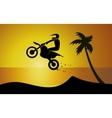 Motorcycle on seaside vector image vector image