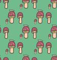 Mushrooms after the Rain seamless pattern vector image